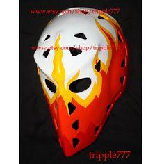 Hockey mask, Hockey goalie, NHL ice hockey, Roller Hockey, Hockey goalie mask, Hockey helmet Yves Belanger mask HO27