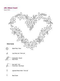 Galeria de Emy: Patterns Silk-Ribbon bordado