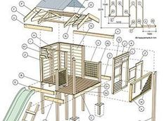 Wooden Playhouse Building Plans DIY blueprints Playhouse building plans Begin this project by selecting a clear and level building site I could By 8 ft DIY Kids Playhouse Playhouse Build A Playhouse, Wooden Playhouse, Pergola Plans, Diy Pergola, Outdoor Play Structures, Tree House Plans, Shed Plans, Building Plans, Outdoor Projects