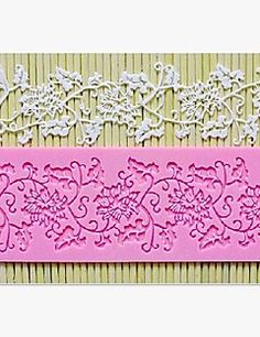 Lace Fondant Cake Chocolate Resin Clay Candy Silicone Mold M... – BRL R$ 14,24