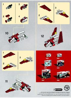 LEGO 30050 Republic Attack Shuttle instructions displayed page by page to help you build this amazing LEGO Star Wars set Legos, Nave Lego, Instructions Lego, Lego Star Wars Mini, Lego Kits, Micro Lego, Star Wars Crafts, Lego Activities, Lego Spaceship