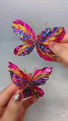 Cool Paper Crafts, Paper Flowers Craft, Paper Crafts Origami, Flower Crafts, Fun Crafts, Diy Crafts For Home Decor, Diy Crafts Hacks, Diy Crafts For Gifts, Creative Crafts