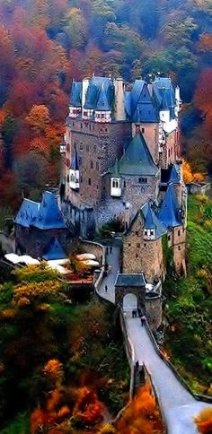 Burg Eltz Castle, Germany fall foliage