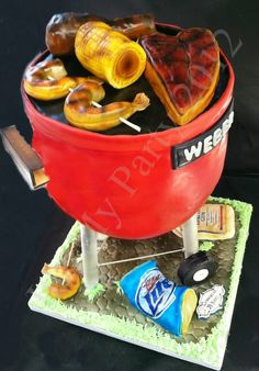 Dimensional Grill Cake