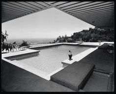 The Stahl House in LA photographed by Julius Shulman.