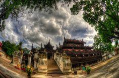 Shwenandaw Monastery ( Golden Palace Wooden Monastery ) in Mandalay , Myanmar