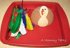 fun idea-Styrofoam turkey manipulative
