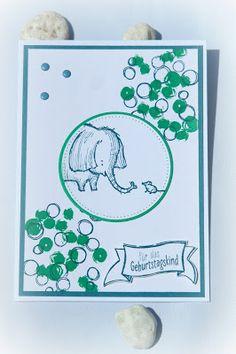 by Keksie: Love you lots, Geburtstagskarte, Playful Background, stampin up Karten Diy, Little Elephant, Baby Shower Cards, Animal Cards, Masculine Cards, Stamping Up, Kids Cards, Cute Cards, Anniversary Cards