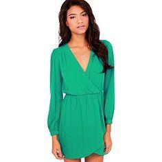 Sagetech®Women's V Neck Sexy Slim Dress(More Colors) – GBP £ 10.64