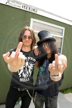 Two of my heroes...Myles Kennedy and Slash....Rock n Fn Roll !!