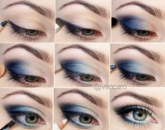 Blue eyes make-up