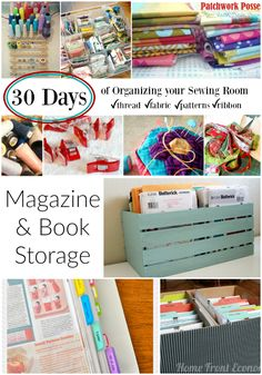 There are more than enough options when it comes to craft and diy magazine and book storage.  The trick is finding a solution that works for you and putting it to use! #quilting #sewing #crafts #diy