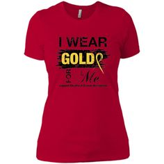 Childhood Cancer Awareness I Wear Gold for Me T-shirt