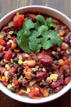 Weight Watchers Crock Pot Vegetarian Chili Recipe