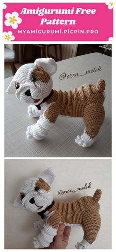 In this article we will share the amigurumi cute dog free crochet pattern. Amigurumi related to everything you can not find and share with you. Crochet Toddler, Crochet For Kids, Crochet Baby, Free Crochet, Crochet Dolls Free Patterns, Amigurumi Patterns, Crochet Animals, Crochet Toys, Stuffed Toys Patterns