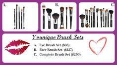 Younique brush set, younique makeup brushes, younique makeup. younique royalty line