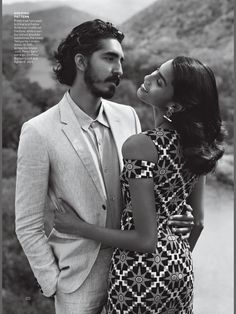 """imaan hammam and dev patel for vogue us dec 2016 by alasdair mclellan """