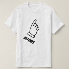 Pointing finger with the text Ivre T-Shirt A finger pointing to the face with a text in French: Ivre that can be translate to Drunk.