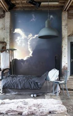 Nice to wake up to this mural. Relaxing space