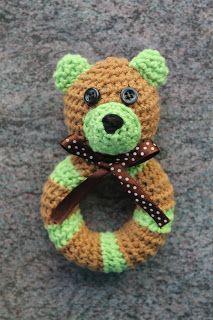 Kotiruusu: Virkattu helistin (ohje) Crochet Baby, Needlework, Teddy Bear, Knitting, Toys, Crafts, Animals, Amigurumi, Embroidery
