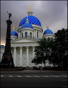Trinity Cathedral in St. Petersburg, Russia.