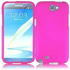 INSTEN For Samsung Galaxy S Note 2 N7100(AT & T) Rubberized Case - Hotpink