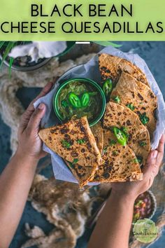 Vegetarian Black Bean Cheese Quesadilla is the perfect quick fix Mexican dinner! The Tandoori masala seasoning gives it a whole new flavor! The Black bean sauce for the quesadilla is prepared in the Instant Pot, making it a quick and viable dinner option. . #ad #BestYou #bethebestyou #quesadilla #vegetarian #instantpot #blackbeans #cheese #tandoori #Mexican #Indian #weeknightdinner #pressurecooker #easy Tandoori Marinade, Tandoori Paste, Tandoori Masala, Vegan Recipes Easy, Beef Recipes, Great Recipes, Dinner Recipes, Favorite Recipes, Cheesy Recipes