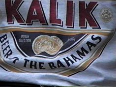 Kalik Beer. Beer of the Bahamas