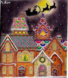 #johannabasford #johannaschristmas #coloringbook #рождественскиечудеса #сладкийгородок
