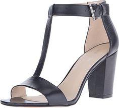 Nine West Women's Brannah Black Leather Sandal 6 M Nine West…