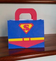 Superman favor bag Check out this item in my Etsy shop // & Batman Escort Cards Batman Place Cards Batman Food Labels ...