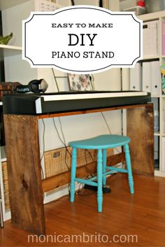 Easy to make DIY Digital Piano Stand. Customize a stand to fit your #keyboard or #digital #piano. Share with your musician friends.