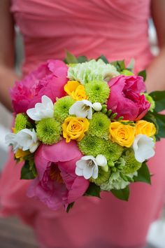 Hot pink and green flowers in a from Noosa Australia Wedding from Nate and Jenny Weddings www. Aisle Flowers, Prom Flowers, Wedding Flowers, Flower Bouquets, Green Flowers, Wedding Pins, Wedding Bouquets, Wedding Ideas, Wedding Inspiration