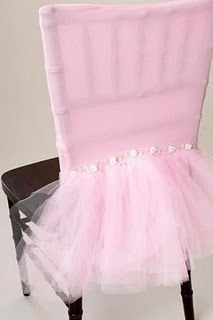 What little princess wouldn't want this as her special birthday chair? or lots in different colors for a princess party