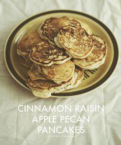 Cinnamon Raisin Apple Pecan Pancakes — hipsterfood