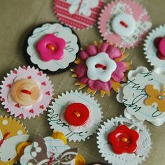 .cool buttons on flowers or scallops etc