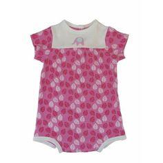Organic Pink Leaf Print Bodysuit