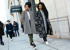 Street Style: New York Fashion Week Fall 2015 – Vogue. Bohemian chic with flair. The hair, the glasses...great fashion.
