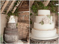 sweet, simple, rustic wedding cake / Kerry Ann Duffy Photography