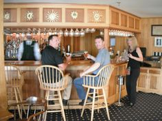 Bar in Von Trapp Lodge where we enjoyed great German wine and a Mtn view to die for!