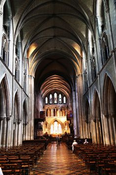 St Patrick's Cathedral -  founded in 1191, is the larger of Dublin's two Church of Ireland cathedrals, and the largest church in Ireland, with a 140 feet spire. Photo by: Kitty Yntema