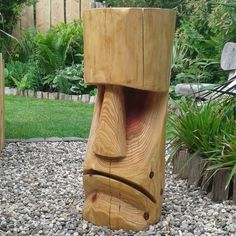 Increase Some Modern Day Design For Your Front Room With Art Deco Coffee Tables 150 2 Krazyti Chainsaw Wood Carving, Wood Carving Faces, Dremel Wood Carving, Wood Carving Designs, Tree Carving, Wood Carving Patterns, Wood Carving Art, Wood Art, Easter Island Statues