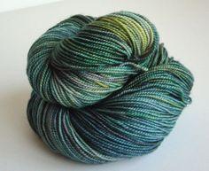 Superwash Merino Fingering Wool Yarn 2 Ply 400 by threewatersfarm, $27.95
