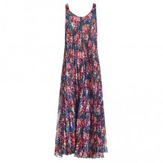 Ribbons Pleat Swing Maxi - Dresses & Coverups - Clothing - Swim & Resort