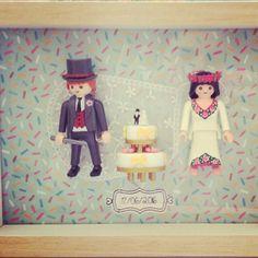 Detalle de boda con los novios de playmobil