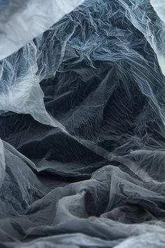 Photographer Vilde Rolfsen captures the magical landscapes of plastic bags she has found over time.