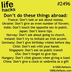 Don't do these while travelling