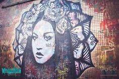 street art , kathrina rupit , kinmx , waterford walls, female ,urban art , girl with flowers , mandala