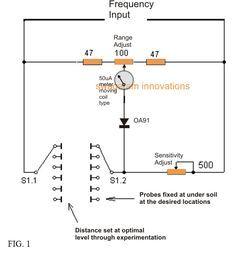 homemade metal detector circuit diagrams pinterest electronic rh pinterest com Gold Detector Machine Gold Detector Machine