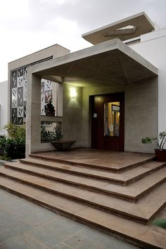 Home Entrance House Architecture Design Facade Building Property Home Entrance Decor, Modern Entrance, Entrance Design, House Entrance, Entrance Foyer, Main Entrance, Entrance Mats, Modern Entryway, Entrance Ideas